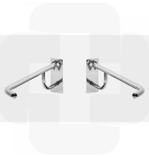 Apoio articulado p/sanitário - direito inox 800x250mm 2kg