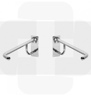 Apoio articulado p/sanitário - esquerdo inox 800x250mm 2kg