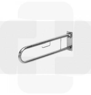 Apoio articulado p/sanitário c/porta rolo inox 800x250mm 2.8kg