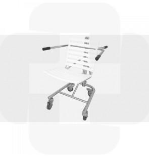 Cadeira de banho móvel inox 600x600x900mm (450 a 580mm) altura regulável 18kg