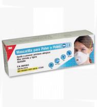 Respirador p/pó e pólen cx3