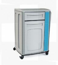 Mesa de cabeceira em ABS, estrutura em aço c/acabamento epoxy