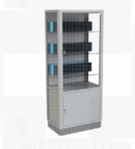 Armário de medicamentos c/6 caixas de 6 gavetas, em aço c/acabamento epoxy 450x700x1700mm