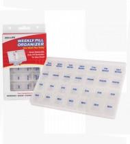 Caixa organizadora semanal de comprimidos 17.5x15x2cm