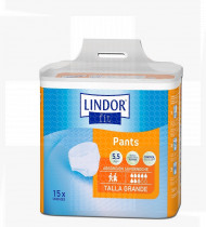Fralda cueca Lindor Pants abs.máxima saco15 (100-150cm) tam G, 8 gotas noite