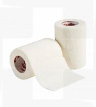 Ligadura elástica coesiva e respirável TapeWrap 5,4m x 5cm branco cx 24