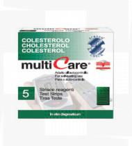 TESTES COLESTEROL MULTICARE IN 25 TIRAS