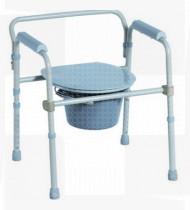 Cadeira de banho alumínio c/rodas patins rebatíveis assento macio