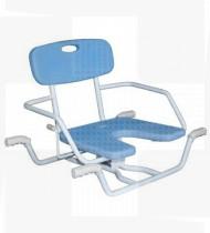 Cadeira de banho giratória alumínio