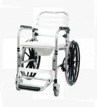 Cadeira de banho c/rodas e suporte de pés