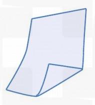 Babete dentário em papel + PE azul Rubbergold cx 1200