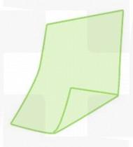 Babete dentário em papel + PE verde Rubbergold cx 1200