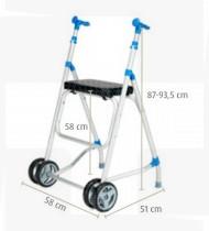 Andarilho c/2 rodas e assento modelo A138