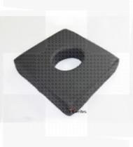 Almofada anti-escara QuadTech c/furo impermeável quadrada 43x43x8cm