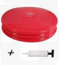 Almofada c/bomba Mambo Sensorais 32cm diâmetro vermelho