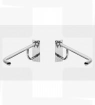 Apoio  bacia c/toalheiro fixação à parede (esquerdo) aço inoxidável polido Ø 35mm-800x250mm