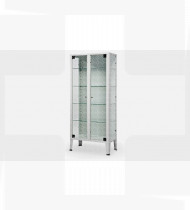 Armário de medicamentos, c/2 portas vidro,estrutura em aço c/acabamento epoxy 380x750x1690mm