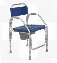 Cadeira de banho alumínio Pacific fixa 46 s/rodas Reg.Alt. ABS