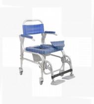 Cadeira de banho alumínio Atlantic 46-4 rodízios c/patins