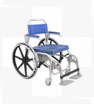Cadeira de banho Atlantic dest.46-2 roda grande + ronda grande maciço