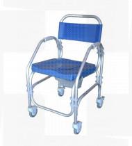 Cadeira de banho alumínio Pacific fixa 44-4 rodízios