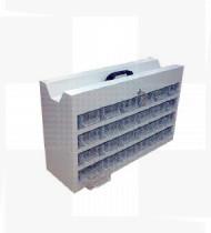 Cassete c/ 24 caixas de 3 divisórias p/medicamentos. Estrutura em Aço acabamento epoxy - 623x195x396mm