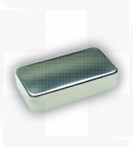 Caixa esterilização retangular 25 x 10 x 05cm