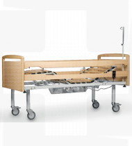 Cama articulada elétrica c/grades laterais e cabeceiras em madeira de faia EPOXY 1960x1020x500mm 78kg
