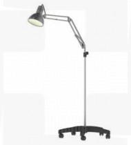 Candeeiro rodado haste flexível c/ lâmpada LED