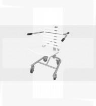 Cadeira banho móvel, altura regulável 3 posições,aço inoxidável dim assento:460x405x(491/571/651)mm dim artigo:600x600x900mm