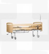Cama articulada manual c/grades laterais e cabeceiras em madeira de faia EPOXY 1960x1020x500mm 75kg
