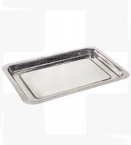 Tabuleiro de instrumentos aço inox 30 x 21 x 4 cm