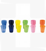 Copos plásticos Medibase verde cx1500