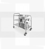 Carro de higiene aço inoxidável acessórios incluídos em aço inoxidável 930x500x1030mmmm