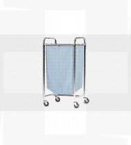 Carro transporte roupa suja,simples em aço inoxidável 500x500x1020mm