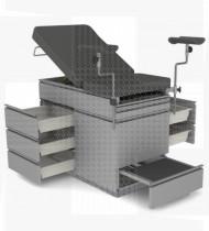 Divã ginecológico multiusos, estrutura aço epoxy estofo espuma acabamento  pele sintética 1700x610x850mm