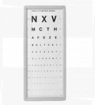Escala optométrica decimal letrada 3MT cartão c/moldura