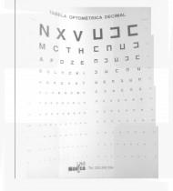 Escala optométrica let. n/letrada 3mt cartão c/moldura