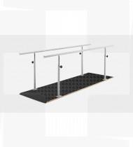 Barras paralelas com base em madeira revestida a tela antiderrapante,estrutura em aço,acabamento epoxy 2510x800x(690-890)mm