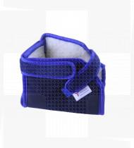 Calcanheira  anti-escara Lã Natural azul marinho (par)18x12x12 cm