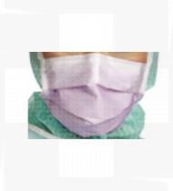 Máscara cirúrgica de uso médico c/ fitas extra proteção Tipo IIR cx 50 (lavanda )