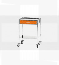 Mesa auxiliar c/gaveta em inox c/acabamento pintado 400x600x860mm