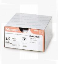 Fio de sutura Monosyn incolor 4/0 70cm DSMP19 cx36