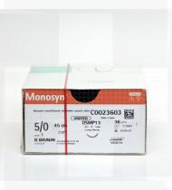 Fio de sutura Monosyn incolor 5/0 70cm DS19 cx12