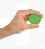 Bola silicone exercício mãos verde - médio