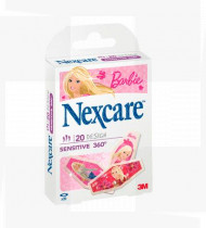 Nexcare kids sensitive design barbie cx 20 tiras