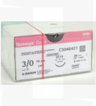 Fio de sutura Novosyn Quick Incolor 3/0 (2) 70cm DS19 cx36