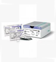 Fio de sutura Novosyn violeta 4/0 70cm HR22 cx36