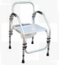 Cadeira de banho alumínio Indian fixa 46 s/rodas Reg.Alt. ABS