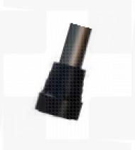 Ponteira p/canadiana 16mm em borracha preta